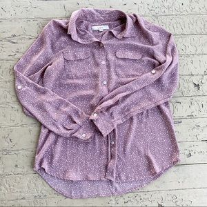 Loft long sleeve purple button down